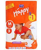 Bella Baby Happy Diapers Medium - 6 Pieces