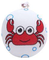 Crab Print Bath Sponge - Red