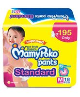 Mamy Poko Standard Pant Style Diapers Medium - 18 Pieces