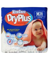 Xtra Care Dry Plus Disposable Baby Diapers Medium - 36 Pieces