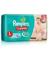 Pampers Pant Style Diapers Light And Dry Large - 52 Pieces