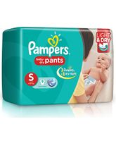 Pampers Pant Style Diapers Light And Dry Small - 9 Pieces
