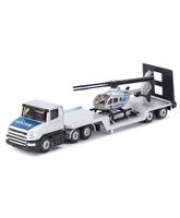 Siku Funskool Low loader With Helicopter - Silver