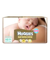 Huggies Taped Diapers For New Baby - 24 Pieces