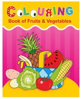 Indian Book Depot map house Coloring Book Of Fruits And Vegetables - English