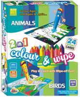 Ekta Color And Wipe Kit - Animals And Birds