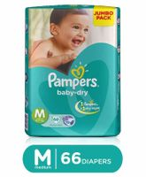 Pampers Baby Dry Diapers Medium - 66 Pieces