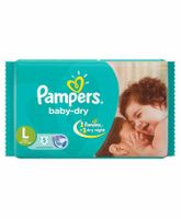 Pampers Baby Diapers Large - 5 Pieces