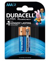 Duracell Ultra Alkaline AAA Batteries - Pack Of 2