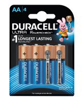 Duracell Ultra Alkaline AA Batteries - Pack Of 4
