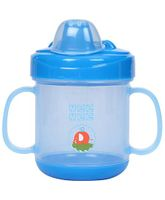 Mee Mee Twin Handle Non Spill Cup - Blue (Prints May Vary)