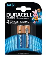 Duracell Ultra Alkaline AA Batteries - Pack Of 2