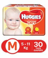 Huggies Dry Taped Diapers Medium Size - 30 Pieces