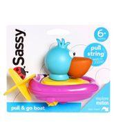 Sassy Pull & Go Boat - Multicolor