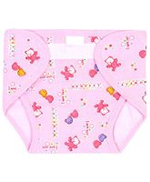 Babyhug Waterproof Nappy Small Teddy Print Single Piece - Assorted Colors