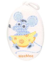 Mee Mee Bath Sponge Mouse Print- Blue