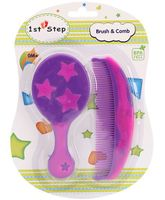 1st Step Brush And Comb Set - Lavender And Pink