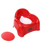 Babyhug  2 in 1 Baby Potty Seat Cum Chair - Red