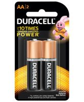 Duracell Alkaline AA Batteries - Pack of 2