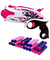 Mitashi Bang Petrel Toy Gun - White And Pink