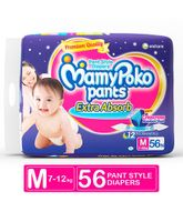 Mamy Poko Extra Absorb Pant Style Diapers Medium - 56 Pieces
