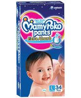 Mamy Poko Extra Absorb Pant Style Diapers Large - 34 Pieces