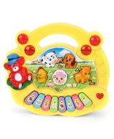 Playmate Animal Farm Mini Piano - Yellow