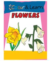 Colour And Learn Flowers Book - English