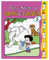 Easy Steps To Draw And Colour Book 5 - English
