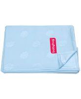Babyhug Pearl Finish Plastic Bed Protector Sheet XXL - Sky Blue