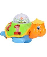 Playmate Happy Turtle With 3D Dream Lighting - Orange And Green