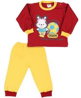 BabyHug Full Sleeves Tees & Pant Set With A Team League Print - Red