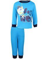 Babyhug Full Sleeves T-Shirt And Pant Kitty Print - Turquoise
