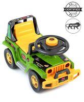 Babyhug Jungle Safari Foot To Floor Ride-On  - Green & Yellow
