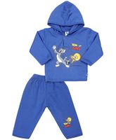 Cucumber Hooded T-Shirt And Leggings Tom And Jerry Print - Blue