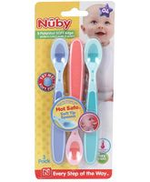 Nuby Hot Safe Feeding Spoons - Green And Blue