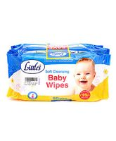 Little's Soft Cleansing Baby Wipes Pack of 3 - 80 Pieces In Each