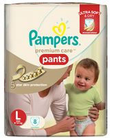 Pampers Premium Care Pant Style Diapers Large - 8 Pieces