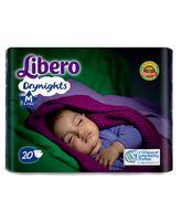Libero Drynights Diapers Medium - 20 Pieces