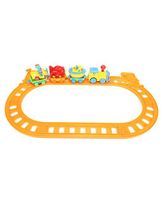 Toy Train Play Set - Yellow Red