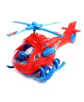 Kids Zone Apache Helicopter Toy - Red