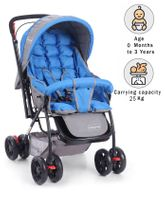 Babyhug Cosy Cosmo Stroller Plain - Royal Blue