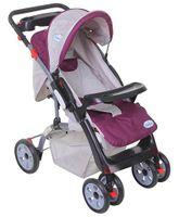 Babyhug Vogue Stroller - Mauve & Grey