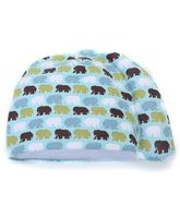 Tortle Infant Repositioning Beanie Elephant Print Small - Aquamarine