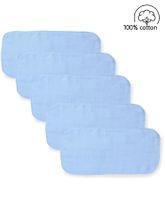 Babyhug  Muslin Cotton Cloth Nappy Insert  Pack Of 5 - Blue