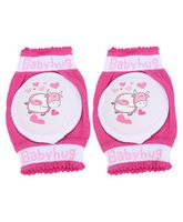 Babyhug Knee Protection Pads Baby Hearts 1 Pair - Pink