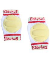 Babyhug Knee Protection Pads - White & Yellow