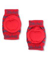 Babyhug Knee Protection Pads Apple Design - Red & Grey