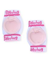 Babyhug Knee Protection Pads Apple Design - Light Pink & White