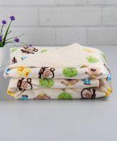 Babyhug Baby Blanket Froggy And Bear Print - Cream